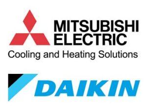 Mitusbishi Electric Daikin Warmtepompen