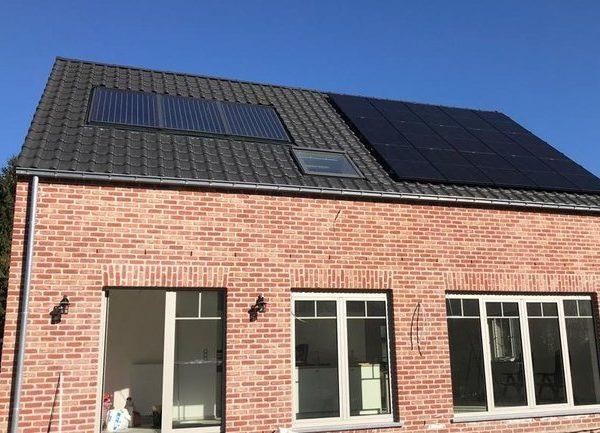 Realisatie 15 zonnepanelen REC 285 Full Black Boutersem Soloya