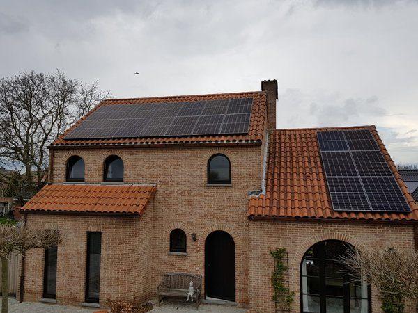 Realisatie 20 REC 320 zonnepanelen met omvormer SMA SB5.0 te Lommel