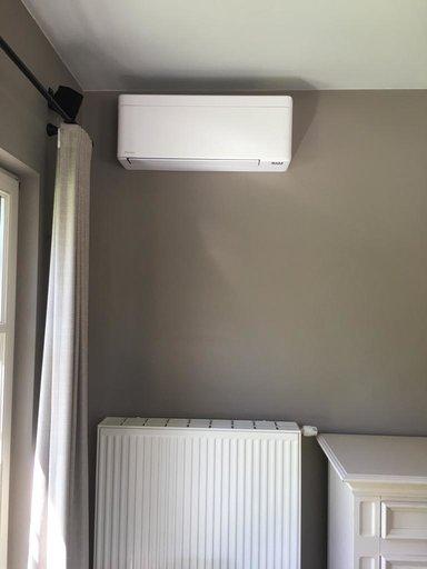 Realisatie Daikin Perfera airco warmtepomp luchtlucht bestaande uit 1 buitenunit en 2 binnenunits te Diepenbeek