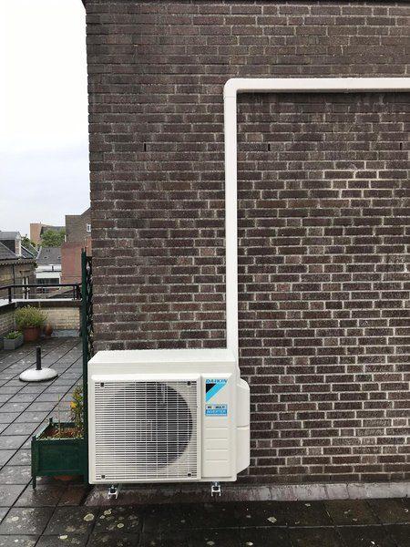 Realisatie Daikin Perfera airco warmtepomp luchtlucht bestaande uit 1 buitenunit en 2 binnenunits te Maastricht
