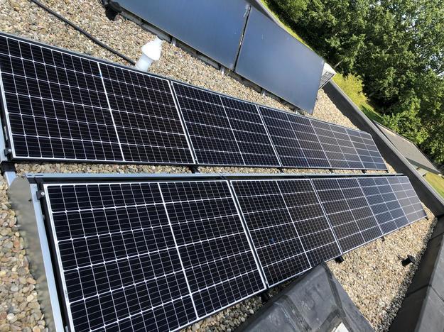Realisatie 35 zonnepanelen REC 320 N-Peak met SMA omvormer STP8.0 te Wintershoven