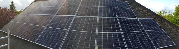 Realisatie 15 zonnepanelen REC 320 N-Peak met SMA omvormer SB3.0 te Dilsen-Stokkem