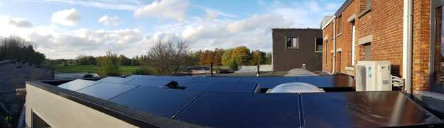 Totaalproject Daikin aircowarmtepomp en 13 zonnepanelen Peimar 300 Wp Full BLack met SMA Omvormer SB2.5 te Lier