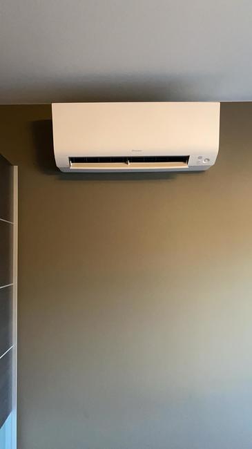 Realisatie Daikin Perfera multisplit split aircowarmtepomp te Geel