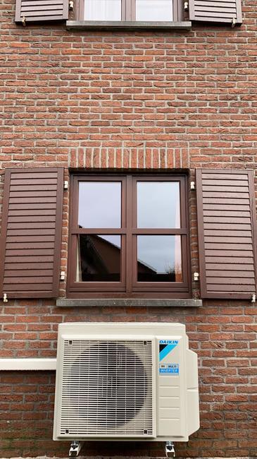 Realisatie Daikin multisplit + single split aircowarmtepomp met 2 Perfera binnenunits te Heusden-Zolder