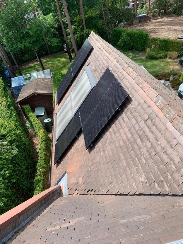 Realisatie 25x REC 320 Full Black zonnepanelen met SMA omvormer SB5.0 te Houthalen