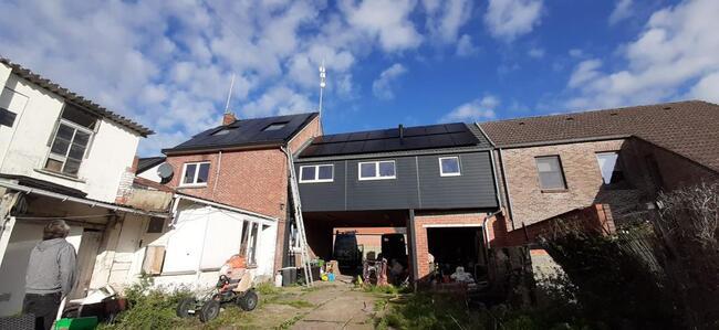 Realisatie 31x Longi zonnepanelen full black 350 Wp met Huawei omvormer SUN8.0KTL te Nieuwerkerken