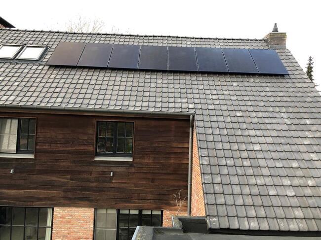 Realisatie 18x QCELLS zonnepanelen 340 FULL BLACK met Solar Edge omvormer SE4000H te Boechout