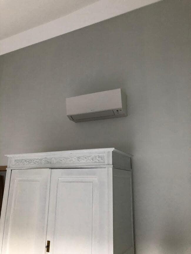 Realisatie Daikin aircowarmtepomp met 3x Perfera binnenunits te Vilvoorde