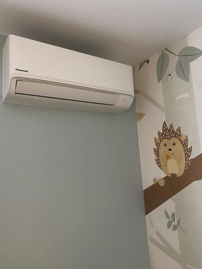 Realisatie Panasonic aircowarmtepomp met 2 TZ inverter binnenunits & 1x single split Top inverter te Borgloon