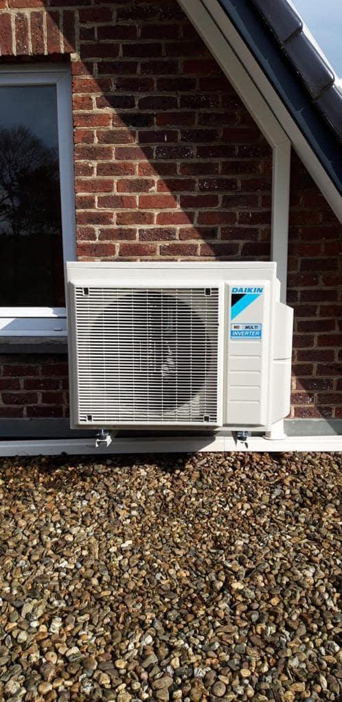 Realisatie Daikin multisplit aircowarmtepomp met 3 binnenunits Perfera + Stylish te Zelem