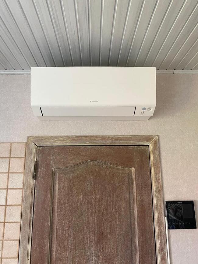 Realisatie Daikin multisplit aircowarmtepomp met 2 Perfera wit binnenunits  + 1x single split Perfera te Lummen